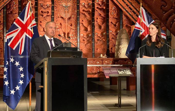 Cook Islands PM Mark Brown and NZ PM Jacinda Ardern. Photo: John Pulu, Tagata Pasifika.