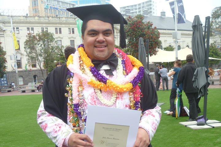 John Tanuvasa at graduation. Photo: Supplied