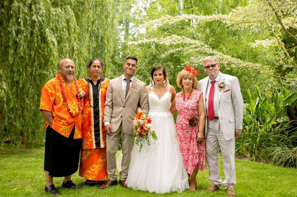 Junior Taulago's wedding day. Photo: Supplied