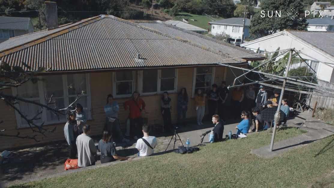 Short film Raids crew. Jade Jackson. Photo: Tagata Pasifika.