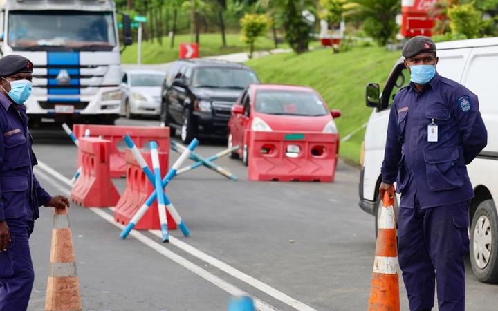 Fiji Covid checkpoint