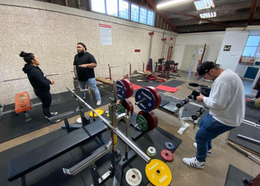 David Liti training before the Tokyo Olympics