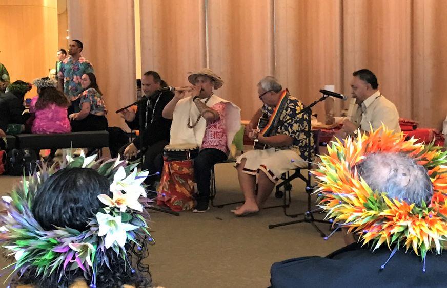 Mauke community celebrate Cook Islands Language Week at the Museum. Photo: Supplied