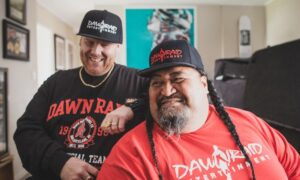 One half of South Auckland hip hop label Dawn Raid, Danny 'Brotha D' Leaosavai'i (Right) now works with local charity The Cause Collective. Photo: Supplied