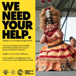 Eteroa Lafaele has put the tech call-out to the community, asking for funds or donated laptops