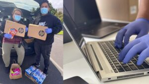 Eteroa Lafaele and her team have spent most of lockdown collecting and preparing donated laptops, and delivering them to students around South Auckland.