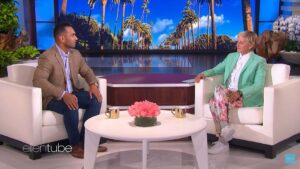 Volleyball coach Inoke Tonga was invited to share his story on the Ellen show recently. Photo: The Ellen Degeneres Show