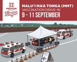 Tongan vaccination drive-through