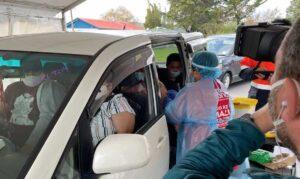Tongan vaccination drive-through. Photo: John Pulu, Tagata pasifika