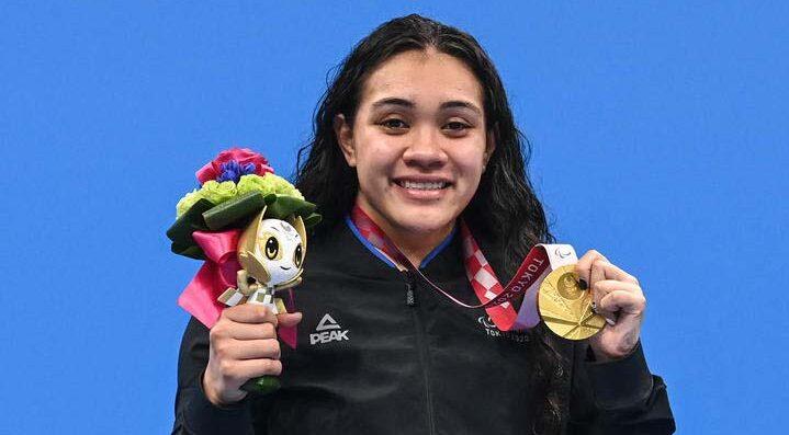 Tupou Neiufi Tongan gold medal para swimmer