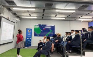pacific youth attending a Le Va session held before lockdown, on mental health coping skills. (Photo: Supplied)